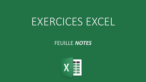 EXCEL EXERCICE NOTE