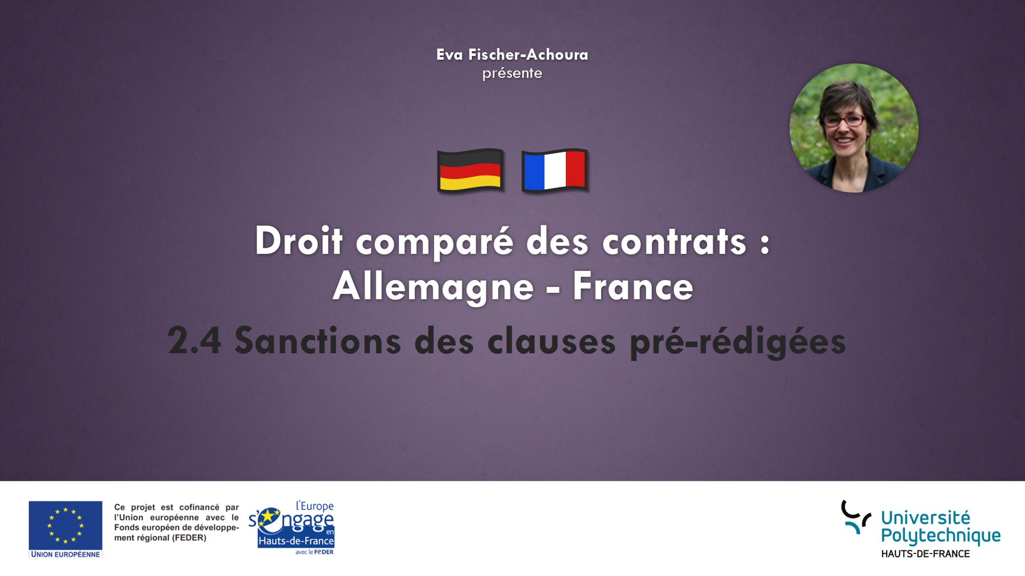 2.4 Sanctions des clauses prérédigées abusives