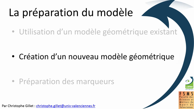 Capture du Mouvement :Preparation du Modele Geométrique