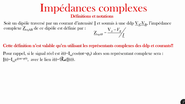 Impédances complexes